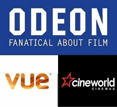 Cinema Ticket Buy one Get One Free voucher Every Tuesday or Wednesday Save 10£