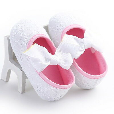 NEW Baby Girl White Lace Christening Pre-walker Shoes 3-6-12-18 months