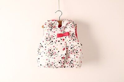 NEW Children Kids Girls Winter Puff Star hoodie VEST  size 5
