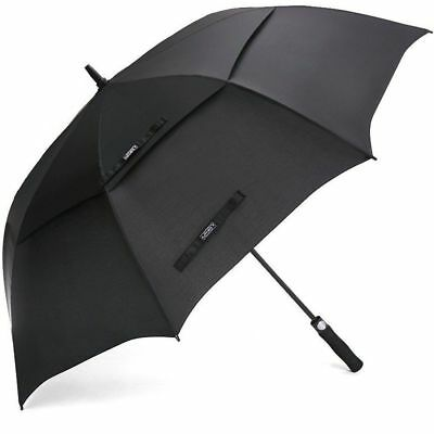 Extra Large Golf Umbrella Double Canopy 68 Inch Windproof Waterproof Vented