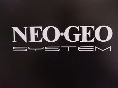 "2 pack Arcade NEOGEO Neo GEO System Gloss White Vinyl Decal Sticker 7.5"" x 1.75"""