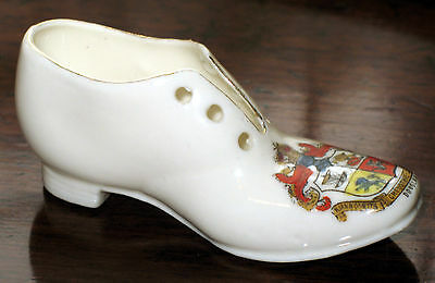 A novelty Crested model of a Shoe - Douglas