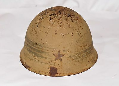 WW2 Japanese Army Helmet Type 90 with Star & Orig Liner Military from Japan 329