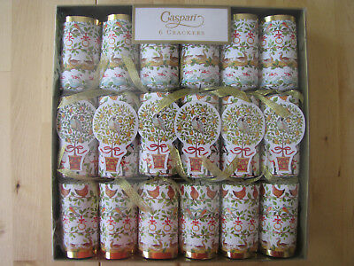 Caspari Set Lot 6 Christmas Holiday Crackers NEW By Janine Moore 12 Days Design