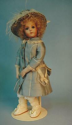 "15""antique French Bru Brevete Doll Leather Body&coat-Dress&hat Pattern German"