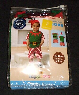 Higgledee - 3 Pcs Baby Boy Size 2 - Christmas Outfit - Cotton Exclusive Of Trims