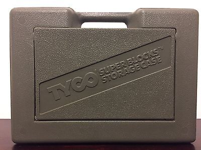 Vintage TYCO Super Blocks Storage Case Only No Blocks Olive Green Army Jeep