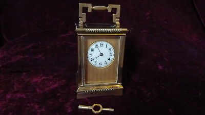 Lovely Brass French Carriage Clock, Circa 1880-1900