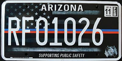 """ARIZONA """" FIRST RESPONDER SUPPORT PUBLIC SAFETY """" AZ Specialty License Plate"""