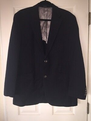 Michael Michael Kors Navy Striped Two Button Blazer Size 38R