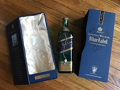 Empty bottle and box Johnnie Walker Blue Label Scotch Wisky Limited Edition