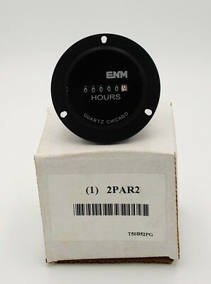 ENM Hour Meter,Electrical,3-Hole,Flange, T50B52