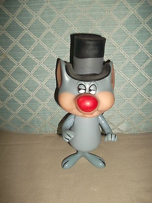 "1970 Warner Bros Cartoon Character Merlin the Magic Mouse  8"" Plastic jointed"