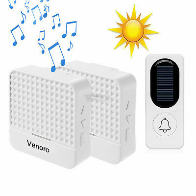Solar Power Waterproof Wireless Doorbell With 1000FT LED 4 Volume 52 Chimes