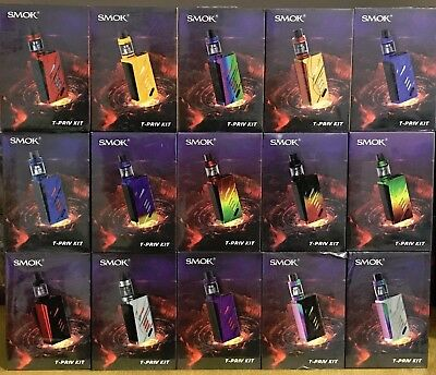 100% Authentic SMOK T-Priv  Alien Full Kit 220W with TFV8 Big Baby Tank Included