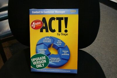 ACT! Sage Accounting Software 2008 Version 10 Upgrade Version Only Win XP/Vista