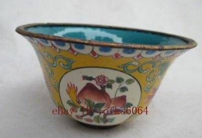 Ancient old Chinese cloisonne bowl