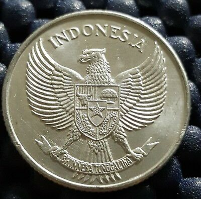 "1955 Indonesia 25 Sen coin ""Rare"" UNC, (plus FREE 1 coin) #D438"