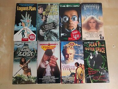 Lot of 8 Sci-Fi Cult VHS - Logan's Run Land of the Lost Plan 9 Clash of Titans