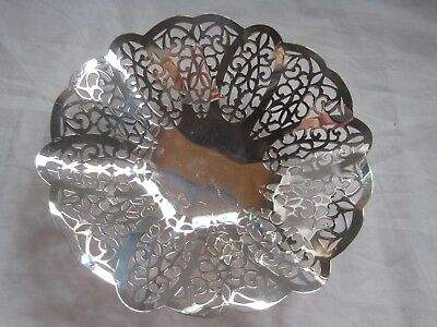 """International Silver Co. Lovelace 6"""" Pierced Footed Dish Bowl"""