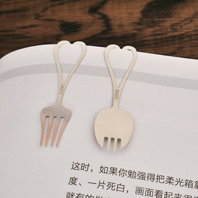 Cute Lovely Maple Leaf Feather Coffee Metal Silver  Bookmark Paper Clip Reading