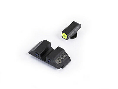 Night Fision Night Sight Set W/Yellow Front Ring For Glock Low-GLK-001-007-YZX