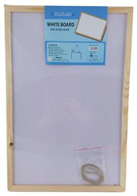 NEW 1pc Office Whiteboard Notice Sign Board White Board Wooden Frame 3Size