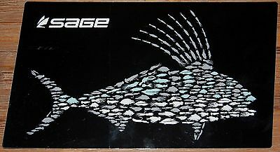 Sage Fly Rod Fly Fish Sticker Roosterfish 22cm Black - Only 1 Left!