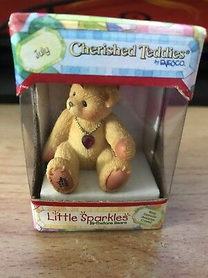 New Mint Condition Cherished Teddies- Little Sparkles July Bear