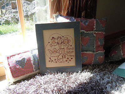 Completed Stitchery - It was $39.95 NOW $24.95, Friends Gather Here!!
