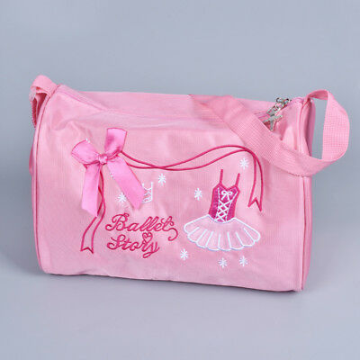 Girls Ballet Duffle Bag Pink Bowknot Dress Pattern Lovely Crossbody Zipper Bag