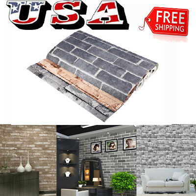 Retro 3D Wallpaper Bedroom Mural Roll Stone Brick Wall Background Textured Art