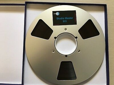 Reel to Reel 10.5 inch Metal Reel (near new) with 2500 feet of new tape