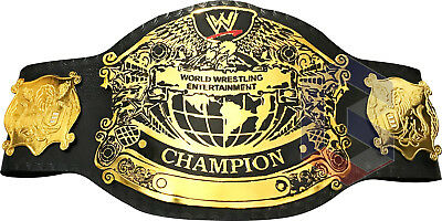 WWE Undisputed Championship Replica  Belt, Adult Size Metal Plates