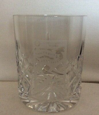 Northumbrian Water University Boat Race Crystal Tumbler Glass