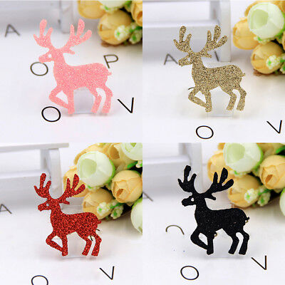 5Pc Christmas Reindeer Accessory Holiday Party Home DIY Decor Xmas Gift 4 Colors