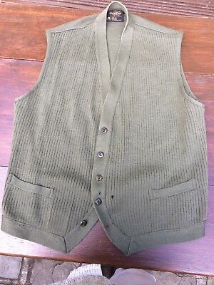 """Gents Vintage Waistcoat Meakers of Piccadilly 42"""" chest circa 1960's £25 now £15"""