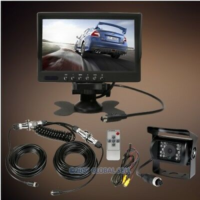 """4Pin Reversing Camera System with 7"""" Monitor+25m Cable for DC9V-35V Caravan Semi"""