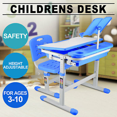 Children Kid Study Desk&chair Adjustable Height Reading Pad Stable Active Kids