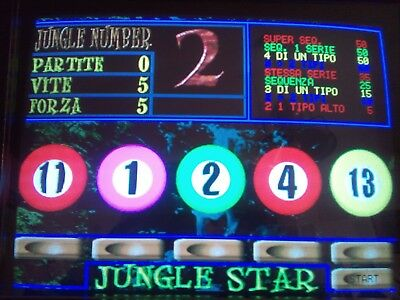 JUNGLE STAR Elsy video poker scheda JAMMA videopoker slot machine