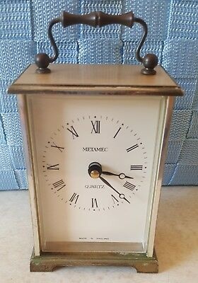 Metamec Carriage Clock Vintage
