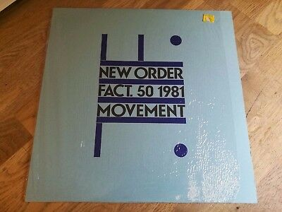 New Order LP Movement 1981 Factory 1st press LOVELY COPY & IN SHRINK FACT 50 +++