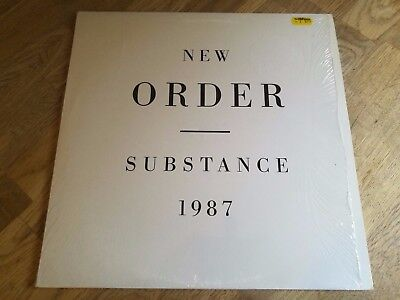 New Order 2x LP Substance 1987 Factory 1st press NICE COPY IN SHRINK FACT 200 ++