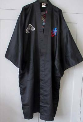 Mens Embroidered Short Kimono Gown. Vgc