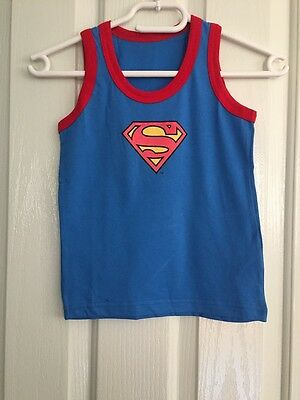 NEW Children Kids Toddler Boy Superman Singlet Top Vest Tank Size 3-4