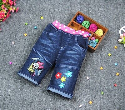 NEW Disney Minnie Mouse Kids Girls Washed Denim Shorts Size 4.5