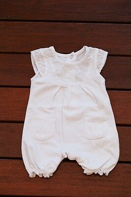 NEW Baby Girl Summer Cotton & Lace Bodysuit Romper size NB Newborn photo prop