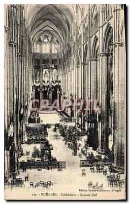 CPA Bourges Cathedrale Grande Nef