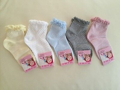 Pack of 3, Solid Colour Kids Girls Summer Cotton Dress Socks 3-5, 9-11 years