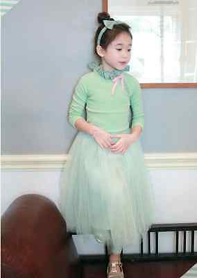 NEW Kids Girl Mint Tulle Puff Tutu Skirt by Strawberry Coral, Size 2